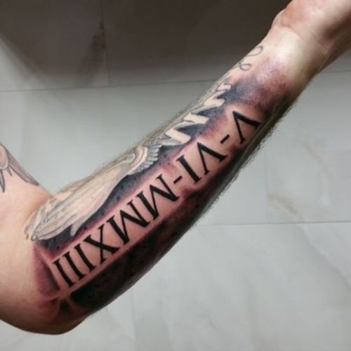 Roman Numeral Tattoo On Arm