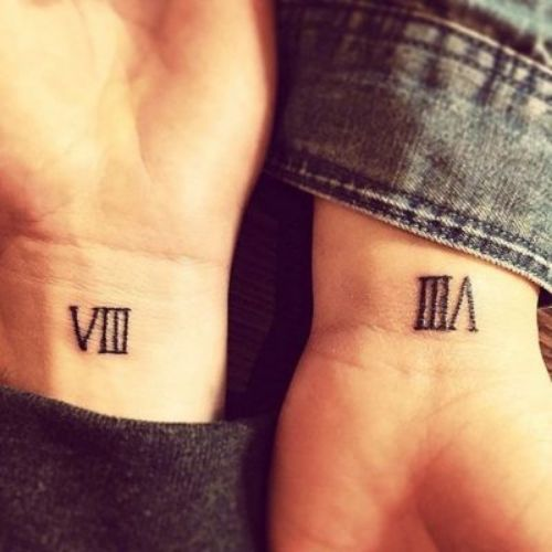Roman Numeral Tattoo On Wrist