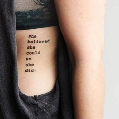 Text Tattoo Font Ideas