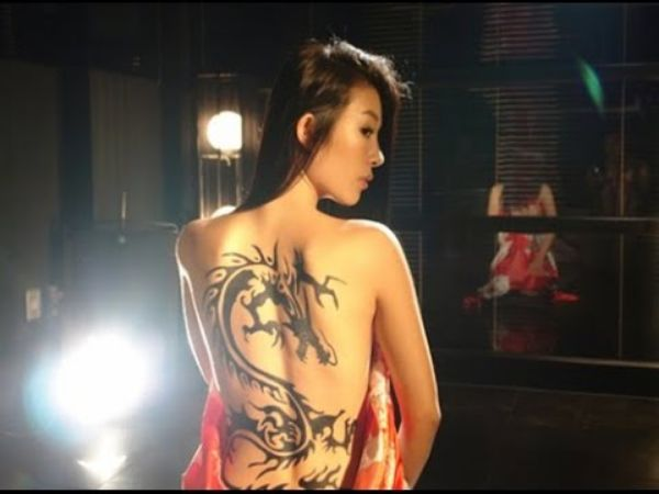 The Girl With The Dragon Tribal Tattoo