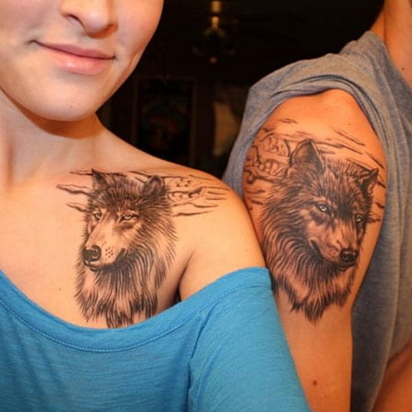 Matching Wolf Tattoo