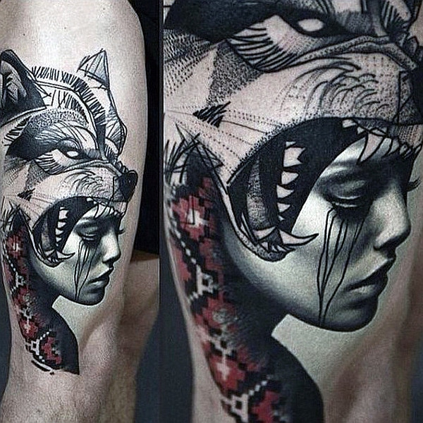 Native American Wolf Tattoo Tumblr