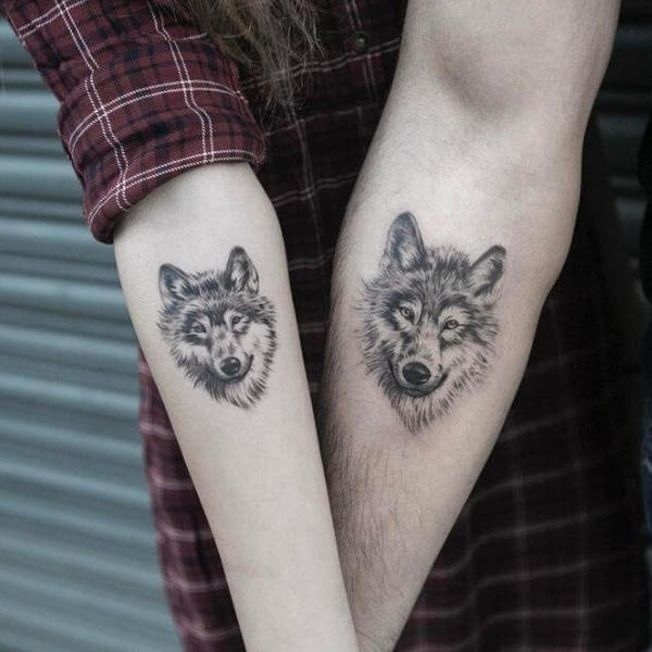 Wolf Tattoos For Couples