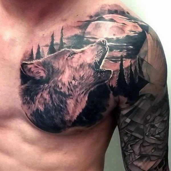 Wolf Tattoos For Men Forearm