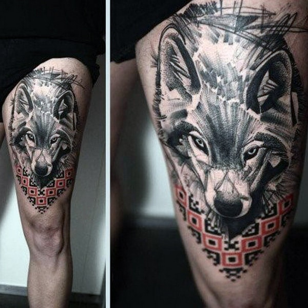 Wolf Tattoos For Men On Arm