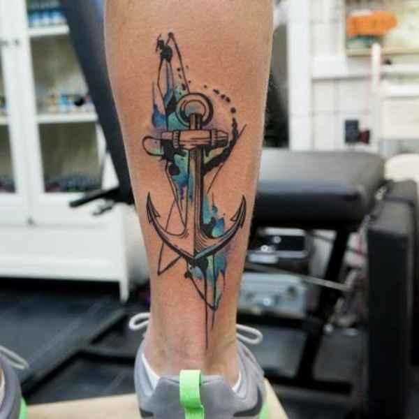Anchor Heart Cross Tattoo
