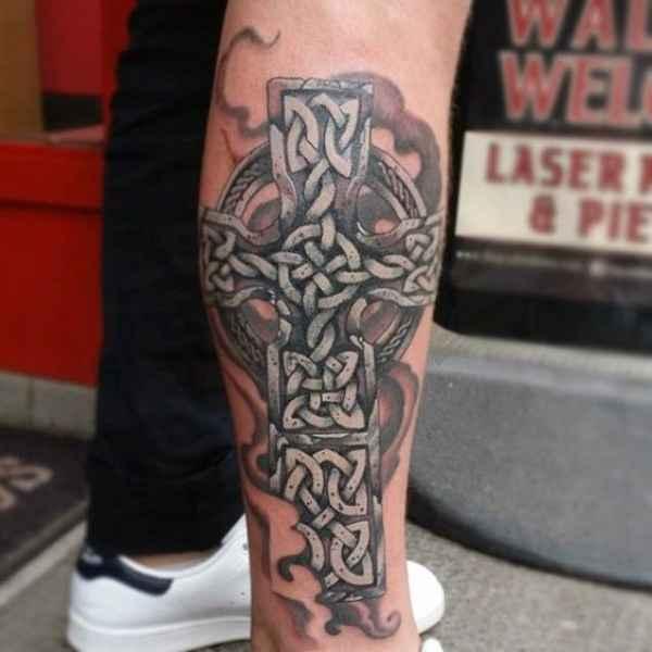Ankle Cross Tattoo
