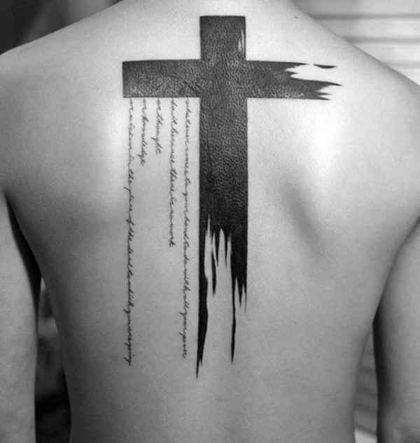 Back Cross Tattoo