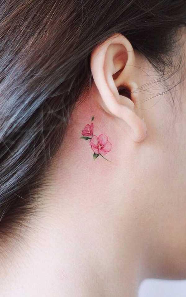 Cherry Blossom Flowers Tattoos
