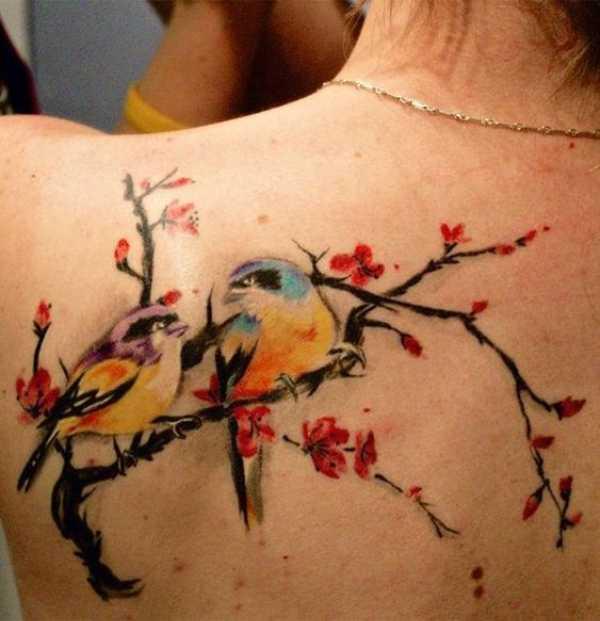 Cherry Blossom Hummingbird Tattoos