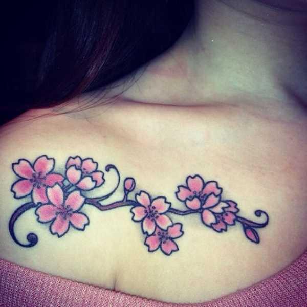 Cherry Blossom Sketch Tattoos