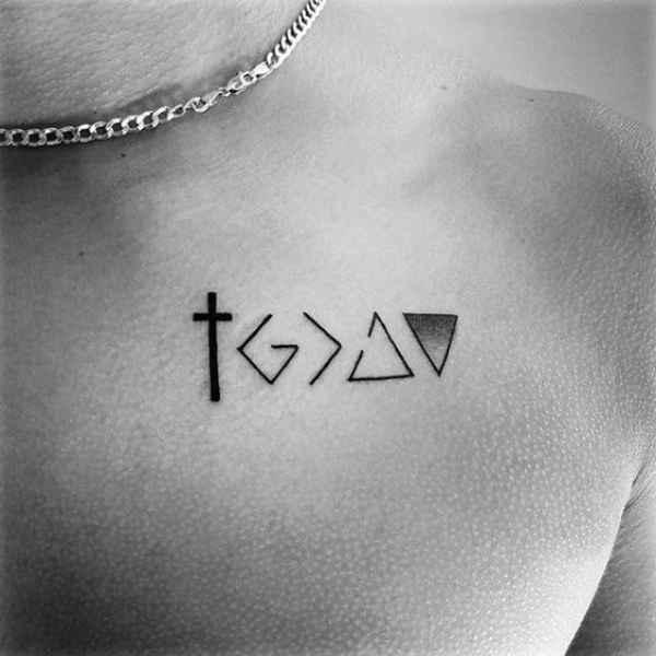 Cross Chest Tattoo