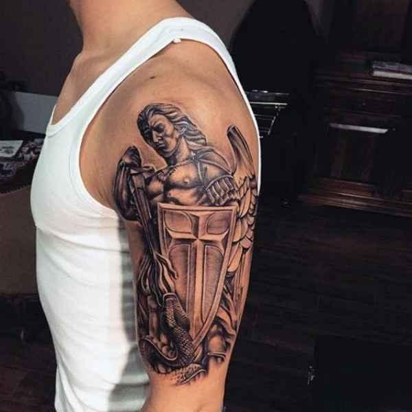 God Cross Tattoo