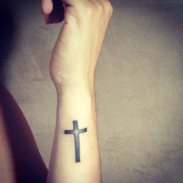 Strength Cross Tattoo