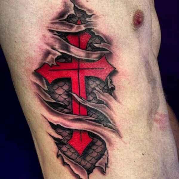 Templar Cross Tattoo