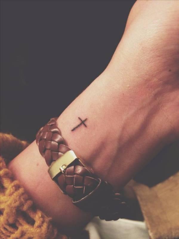 Tiny Cross Tattoo