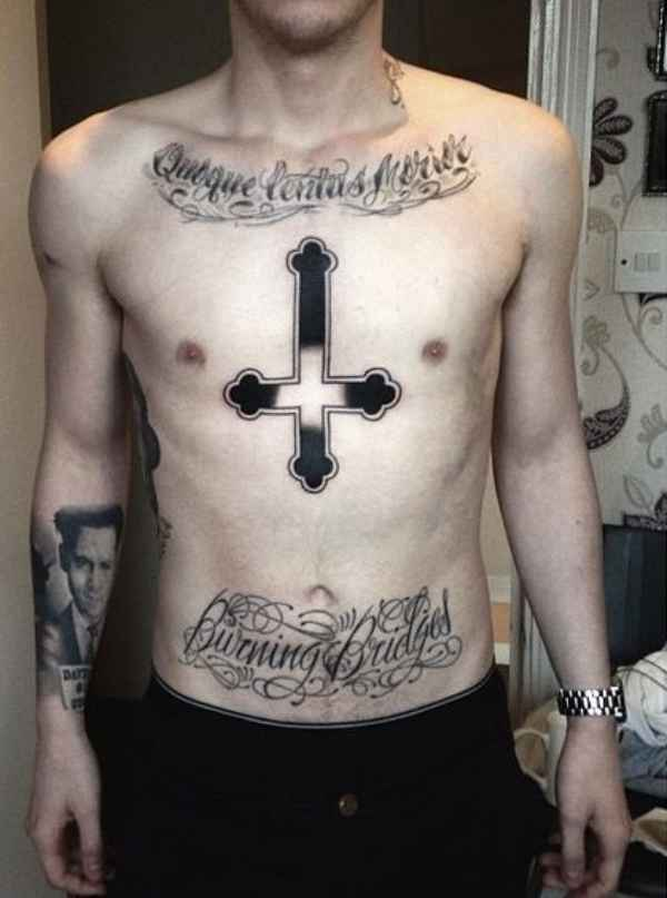 150 Best Cross Tattoos For Men 2020