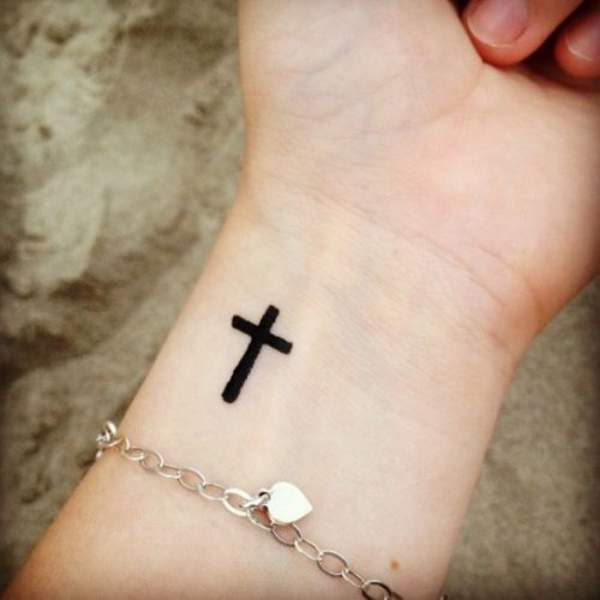 Wrist Cross Tattoo