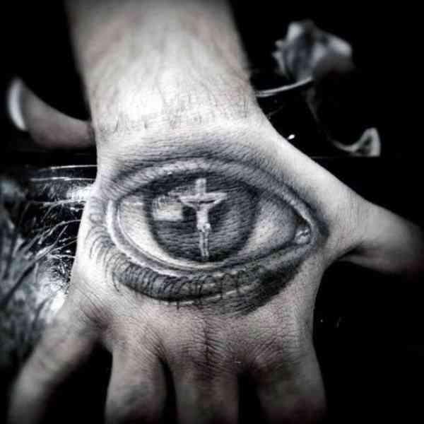 Cross Tattoo On Hand