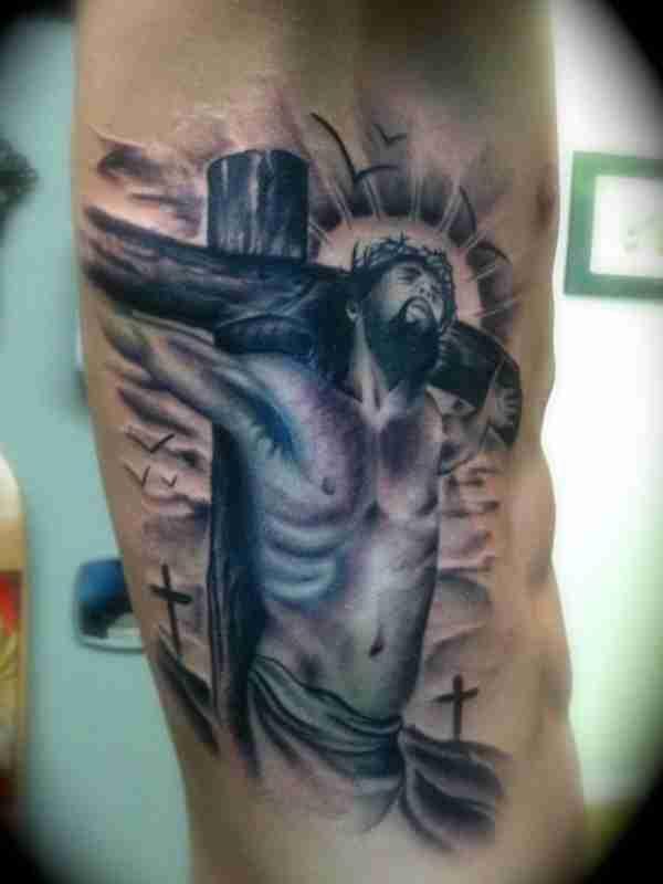 Jesus Carrying Cross Tattoo
