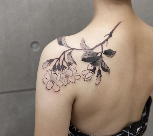 Chinese Flower Tattoos