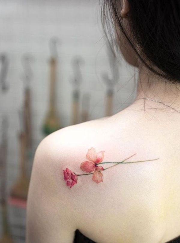 Delicate Flower Tattoos