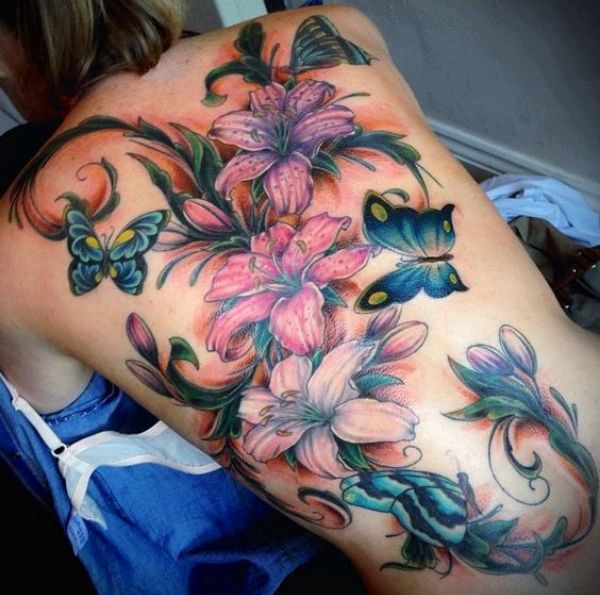 Flower Tattoos Color