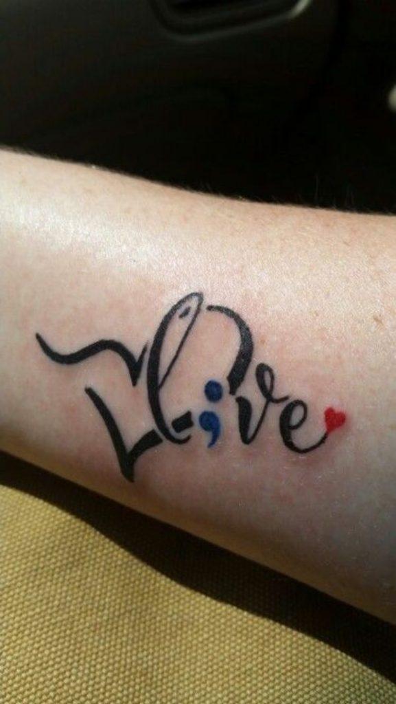 Live Semicolon Tattoo