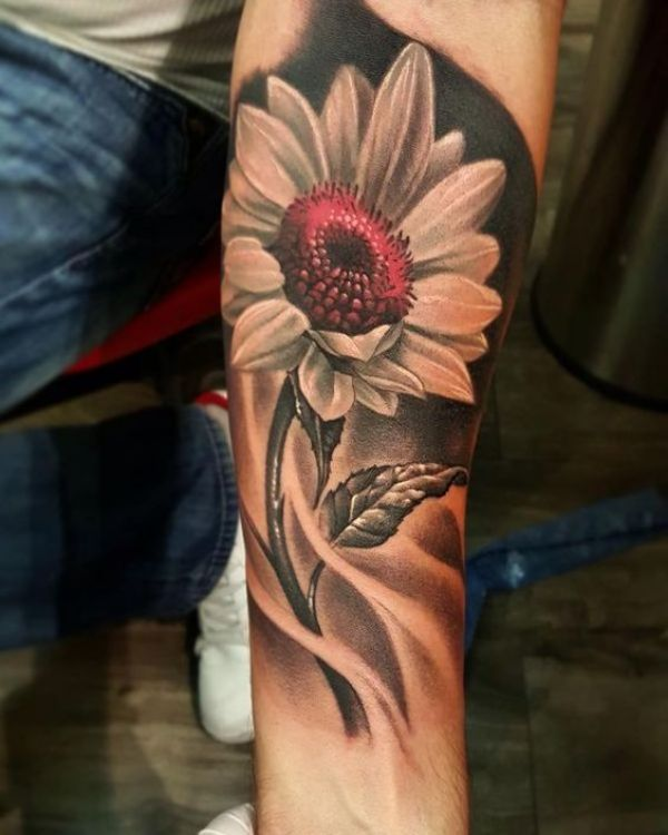 Red Flower Tattoos