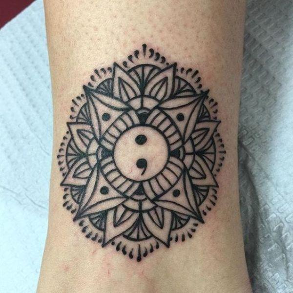 Tribal Semicolon Tattoo