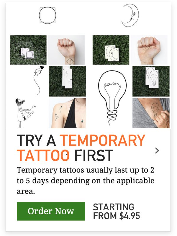 temporary girls tattoos