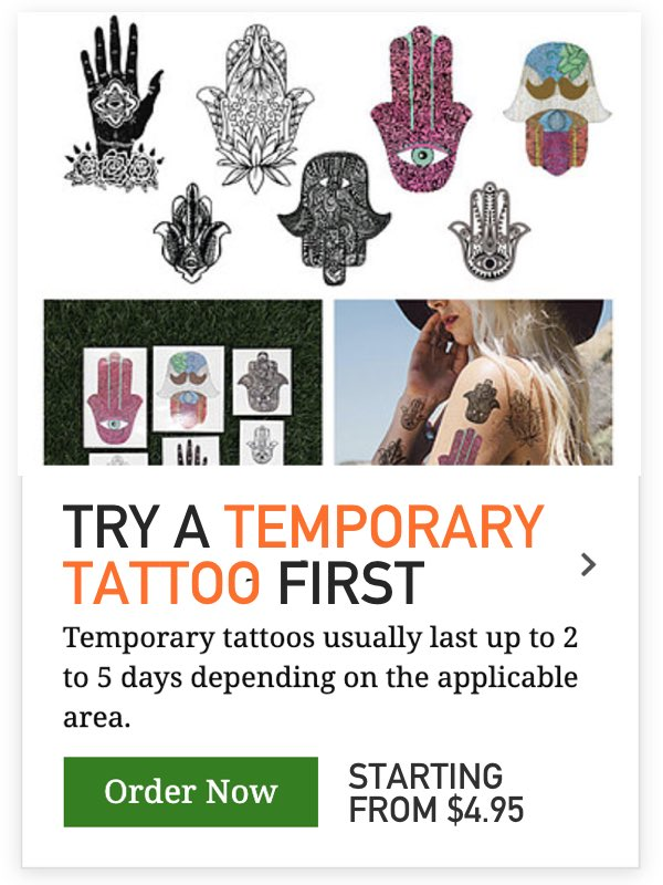 temporary tattoo for girls