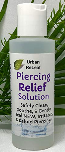 Urban ReLeaf Piercing Relief Solution ! Safely Clean, Soothe & Gently Heal New,...