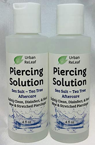 Labret Piercing Sea Salt Solution