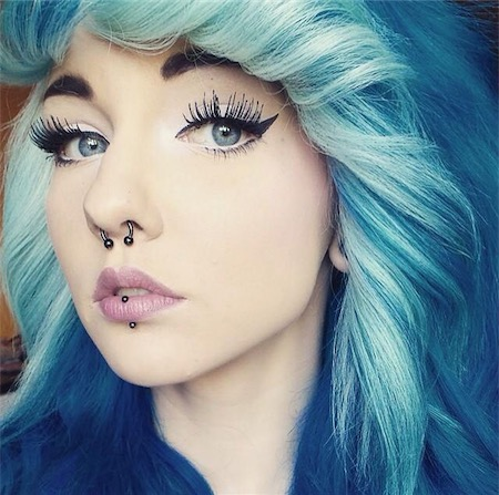 Labret Piercing Examples