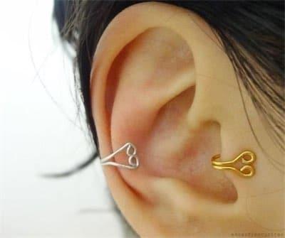 DIY Tragus Ear Cuffs