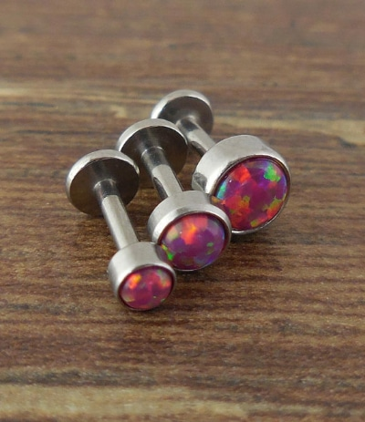 Tragus Piercing Fire Opal
