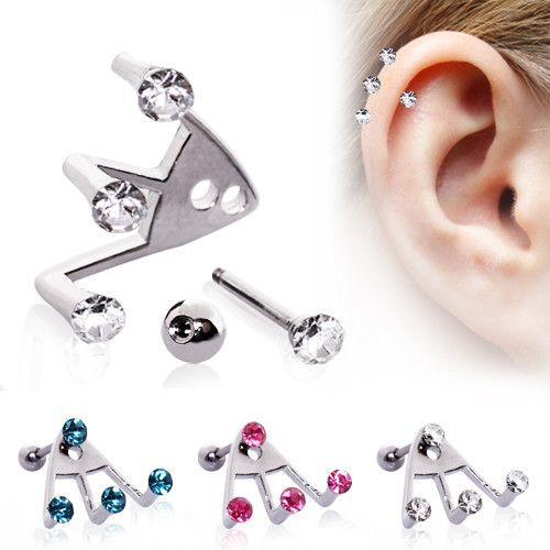 Trident Helix Piercing Jewelry Inspiration