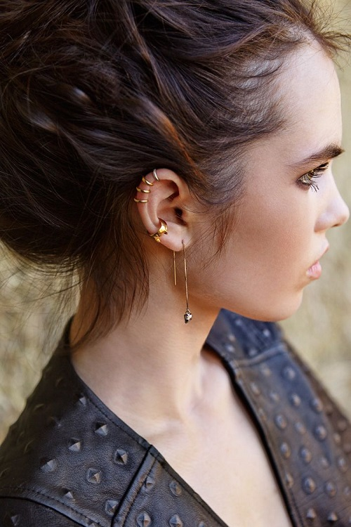 25 Awesome Helix Piercing Jewelry Inspirations Ear Piercings Pinterest