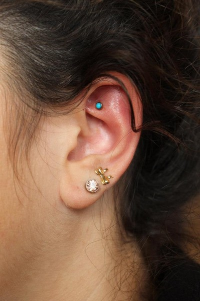 Rook Piercing Jewelry Gold