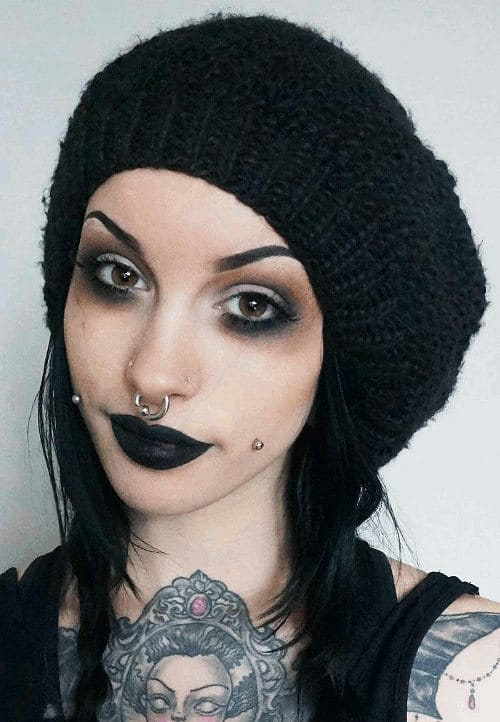 septum piercing dark makeup