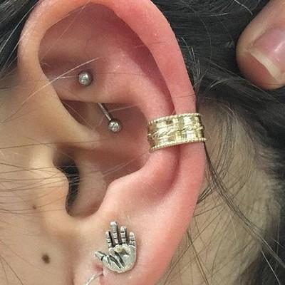 Circular Conch Piercing
