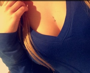 Chest Dermal Piercing