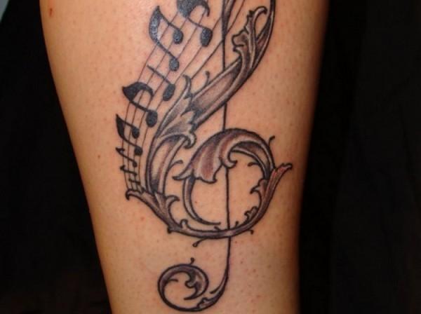 Notes tattoo design