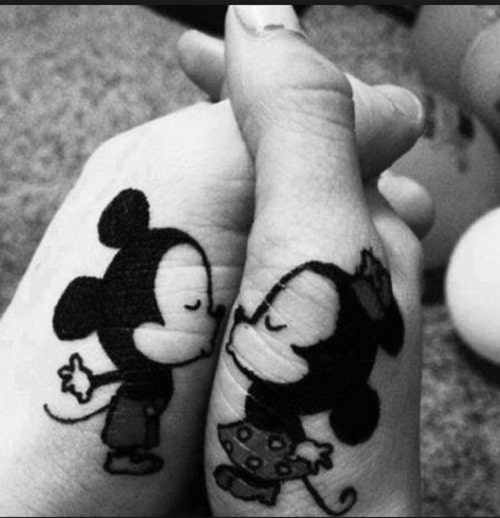 Baby Mickey and Minnie Couples Tattoos