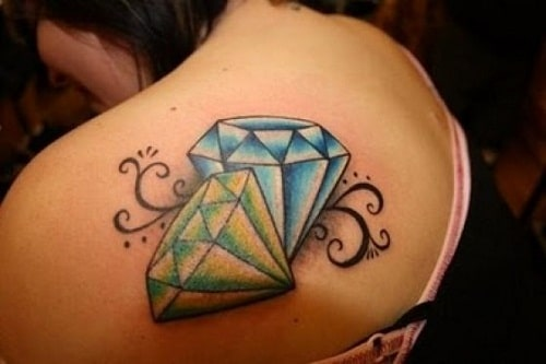 blue-and-green-diamond-tattoo