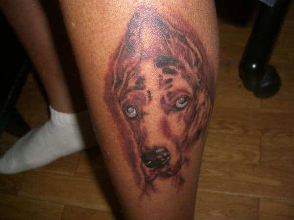 dog rip tattoo