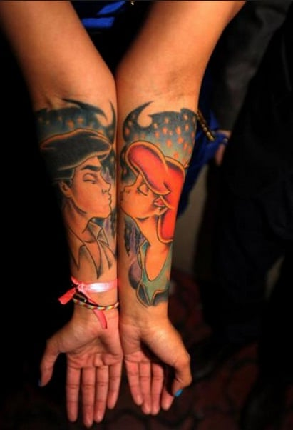 little-mermaid-couples-tattoos