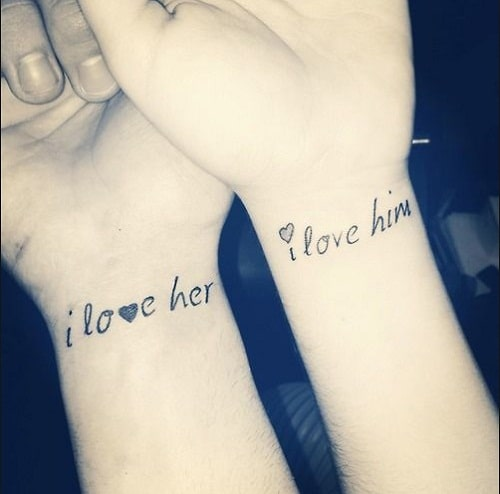 Love Tattoos For Couples Quotes Extraordinary 52 Best Couples Tattoos Ideas And Images  Piercings Models