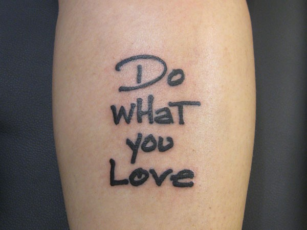 love tatoo quote